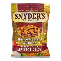 Snacks Snyders Of Hanover Mel Mostarda e Cebola Pretzels Pieces Kosher 56,7g - Snyder's of hanover
