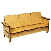 Sofa 3 Lugares Para Casa Da Barbie 18,5x8,5x6 Laser Mdf Madeira - Atacadão Do Artesanato Mdf