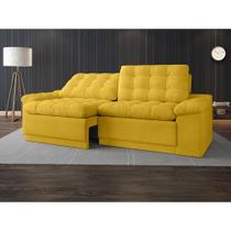 Sofa 4 Lugares Confort Retrátil e Reclinável Canario 2,20m - Netsofas