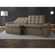 Sofa 4 Lugares Confort Retrátil e Reclinável Capuccino 2,20m - Netsofas