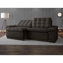 Sofa 4 Lugares Confort Retrátil e Reclinável Chocolate 2,20m - Netsofas