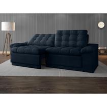 Sofa 4 Lugares Confort Retrátil e Reclinável Petroleo 2,20m - Netsofas