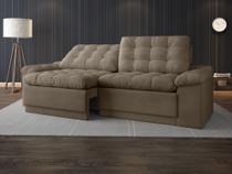 Sofá 4 Lugares Net Confort Assento Retrátil e Reclinável Capuccino 2,20m (L) - Netsofas