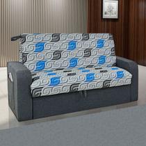 Sofá Cama 2 Lugares Daiane Com Baú 00004.0122167 Cinza/Estampado - Matrix móveis