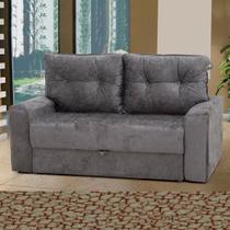 Sofá Cama 2 Lugares Hebe 00043.0387 Cinza - Matrix móveis