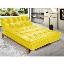 Sofá Cama 3 Lugares 5 Posições Versátil Madero Siena Móveis Amarelo -