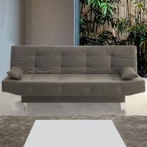 Sofá cama 3 lugares glamour 11381 julia griss - pnr móveis - Multi móveis