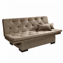 Sofá Cama 3 Lugares reclinável com baú Estofados Chocolate  - Essencial Estofados -