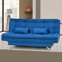 Sofá Cama 3 Lugares Salomé 00069.0384 Azul - Matrix móveis