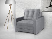 Sofá-Cama Solteiro 1 Lugar Suede Retrátil - American Comfort Vênus