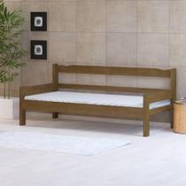 Sofá cama solteiro de madeira maciça Nemargi Imbuia -