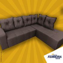 Sofá Chaise 5 lugares 2,10x1,70 - Ferreira Atacado