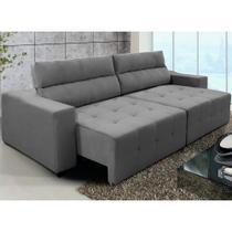 Sofá Connect 4Lug Pillow Retrátil/Reclinável 250 Cinza - WS - Ws Estofados