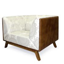 Sofa Dante base madeira castanho - Domi