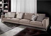 Sofá de 4 Lugares, Revestimento em Sarja  - LOG013 - Sofá direto da fábrica