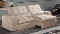 Sofá de Suede Retrátil e Reclinável 02 Módulos de 0,80m com 2,10 x 1,14 x 1,23   Fittipaldi Pérola - Elyte Sofás