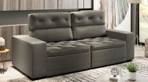 Sofá de Suede Retrátil e Reclinável 02 Módulos de 1,20m 2,90 x 1,15 x 1,20  Filipinas Cinza - Elyte Sofás