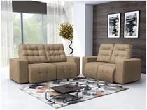 Sofá Retrátil e Reclinável 2 e 3 lugares  - Suede Confort Somopar