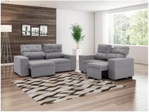 Sofá Retrátil e Reclinável 2 e 3 Lugares Suede - Phormatta Evolution SMP