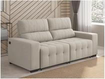 Sofá Retrátil e Reclinável 3 Lugares Suede Connect - Reta Moderna American Comfort com Entrada USB