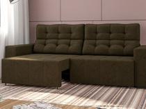 Sofá Retrátil e Reclinável 4 Lugares - Suede Amassado Vitale Ambiente Móveis
