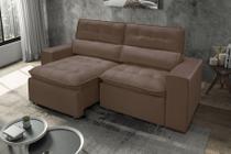 Sofá retrátil e reclinável Atenas 3 lugares Chocolate 210cm - MegaFenix - Ferguile