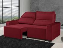 Sofá Retrátil Reclinável 3 Lugares Elegance - Assento Ortopédico D-45 American Confort