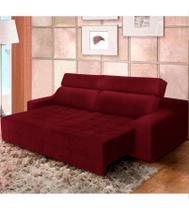 Sofá top lubeck retrátil reclinável 250 vermelho  ws estofados -