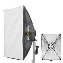 Softbox 50x70 Iluminador TUDOPRAFOTO c/ Soquete 4 Lâmpadas - Tuduprafoto