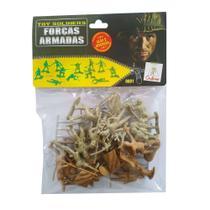 Soldadinhos de Plástico Toy Soldiers Forças Armadas Soldados Japoneses 24 Peças Gulliver - 0621 -