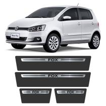 Soleira Volkswagen Fox 2003 a 2019 Protetor de Portas Aço Escovado Premium Grafia Personalizada - Np Adesivos