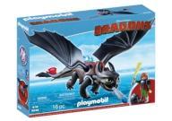 Soluco e Banguela Playmobil Como Treinar Seu Dragão 9246 -