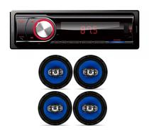 Som Automotivo  Bluetooth Fm Usb Sd Daz e  2 Par De Alto Falante Orion 6 Polegadas 110w - Dazz  / orion