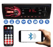Som Automotivo Com Bluetooth Auto Rádio 2x Usb Sd Aparelho Mp3 Player - First Option