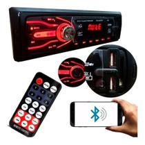 Som Automotivo Com Bluetooth Auto Rádio 2x Usb Sd Aparelho Mp3 Player - First Option