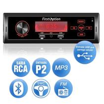 som automotivo com Bluetooth first option 6660BSC atendimento celular usb sd mp3 player toca fm p2
