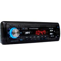 Som Automotivo com Rádio FM Entradas USB SD e Auxiliar Player Center EXBOM - MPCC-20B