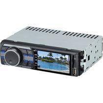 """Som Automotivo com Tela de 3"""", MP3 Player, Rádio FM, Entradas USB, SD e Auxiliar Naveg NVS3099 -"""