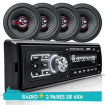 Som Automotivo MP3 Bluetooth USB Onix Prisma Joy Spin Cobalt 4 Falantes+ Antena - Uberparts