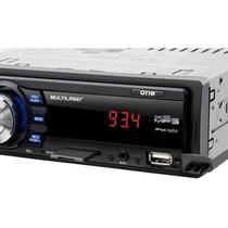 Som Automotivo Multilaser One P3213 Preto, Mp3 Player, Rádio Fm, Entradas Usb, Cartão Sd e Auxiliar,