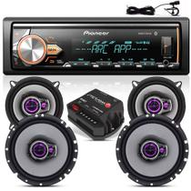 Som Automotivo Pioneer Bluetooth X30br + Kit Auto Falante 5 E 6 TriaxiaL