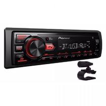 Som Automotivo Pioneer MVH-298BT, Preto, Bluetooth, MP3, USB