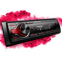Som Automotivo Pioneer MVH-S218BT 1DIN MP3 USB/Bluetooth/Frente destacável/AM/FM/AUX/RDS -