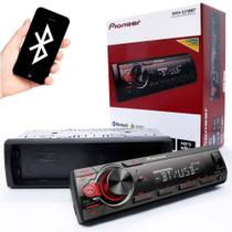 Som Automotivo Pioneer MVH-S218BT, Auxiliar Frontal, Bluetooth, USB, Rádio AM/FM - Pionner