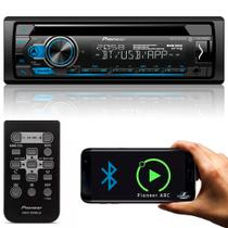 Som Automotivo Pioneer USB Rádio FM Bluetooth 1 Din 23W RMS Leitor de CD/DVD MIXTRAX - DEH-S4180BT
