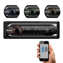 Som Automotivo Quatro Rodas CD Player MTC6615, Bluetooth, USB, Auxiliar, Cartão SD, Viva-voz e 25Wx4