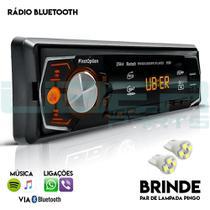 Som Automotivo Radio Bluetooth Mp3 Player Usb Aux Sd Fm Controle - Uberparts
