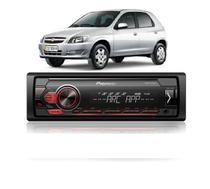 Som Automotivo Radio Celta  Pioneer Mvh 98ub Preto 1 Din -
