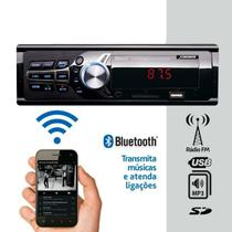 Som Automotivo Rádio Fm Mp3 Bluetooth USB SD 2RCA - X3automotive
