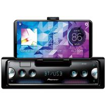 Som Automotivo Smartphone Receiver Pioneer SPH-C10BT Preto Bluetooth Entrada USB Frontal -